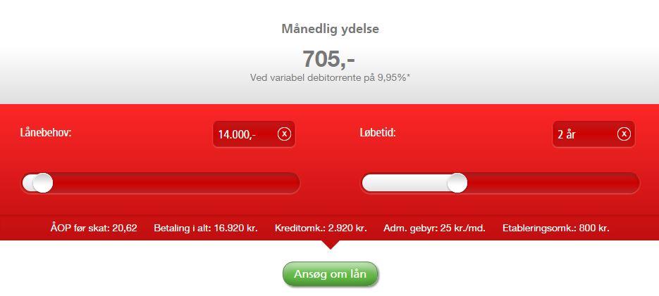 Lån 14000 - hos Santander